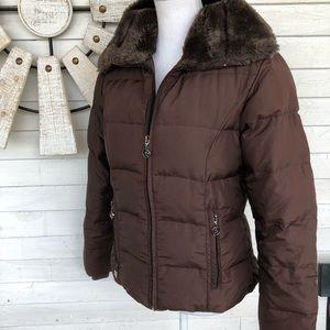 Zeroxposure Brown Down Fill Puffer Winter Coat